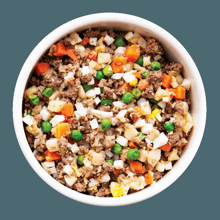 Bowl of Nom Nom Beef Mash
