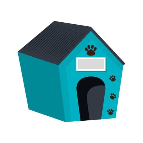 custom dog house illustration