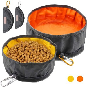 Collapsible Fabric Travel Pet Bowl for Water and Food