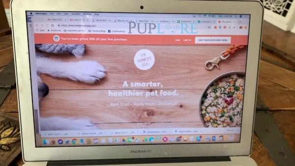 The Farmers Dog website